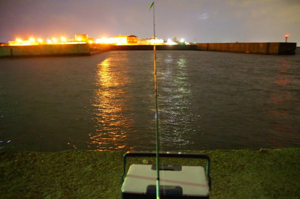埠頭の明かりが美しい